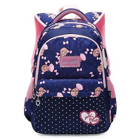000373011e Backpack - Student Girl Cute Princess Bag Ultra Light Large Capacity  Multi-Layer Backpack