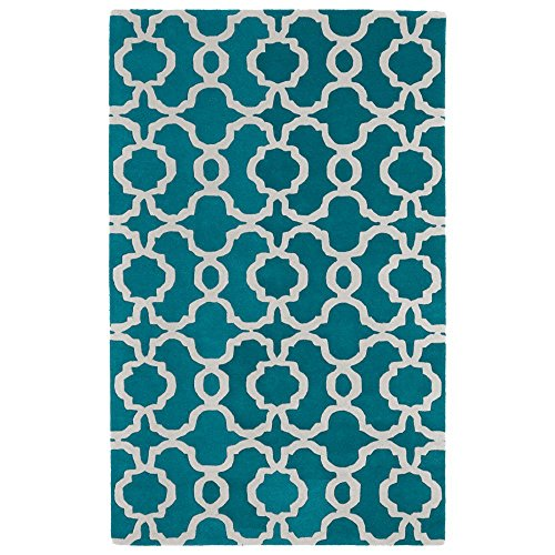 Kaleen Rugs Revolution Collection REV03-91 Teal Hand Tufted 5
