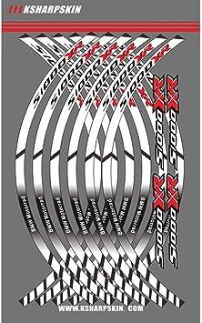 Psler Motorrad Felgenrandaufkleber Rim Stripes Aufkleber Für S1000xr Weiß Auto