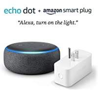 Echo Dot (3rd Gen) bundle with Amazon Smart Plug - Charcoal