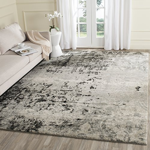Safavieh Retro Collection RET2139-7980 Modern Abstract Light Grey and Grey Area Rug (5' x 8')