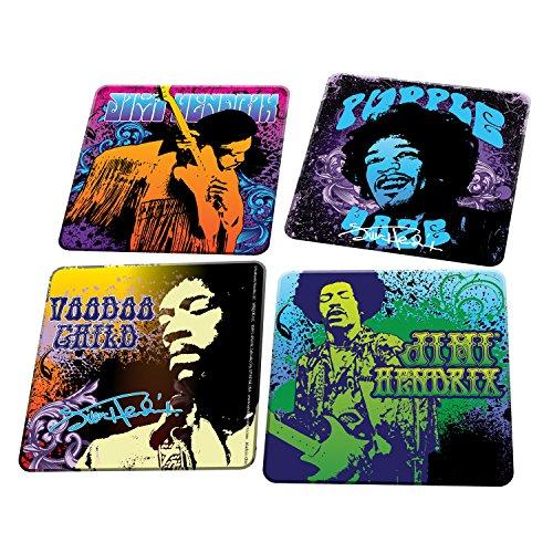 Jimi Hendrix Collectibles: 2011 Vandor Purple Haze Wood Coaster 4-Pack
