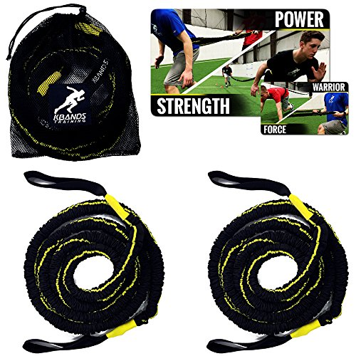 Kbands Victory Ropes - Multiflex Battle Ropes - Strength & Conditioning - Resistance Bands Stretch Up To 20ft Each