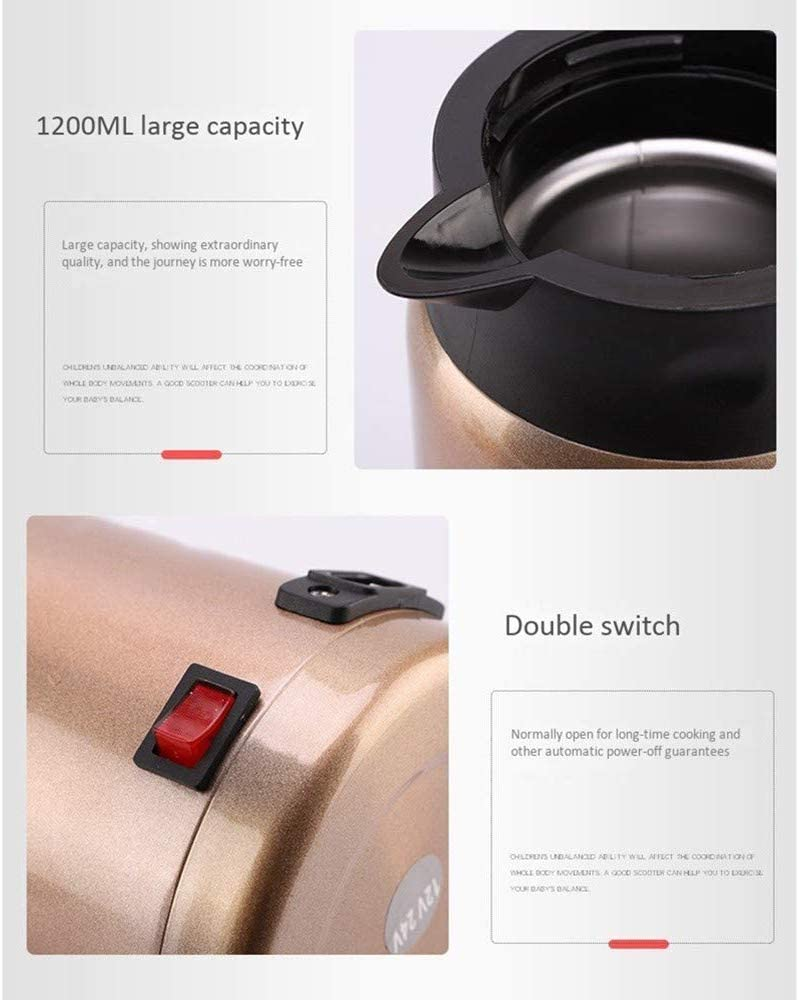 Details about  /DAEWOO D2 Stainless Steel Car Heating Cup Electric LCD Display Water Cup Kettle