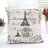 "Modern linen Throw Pillow Cases Cushion Cover Paris Effiel Tower 18"""