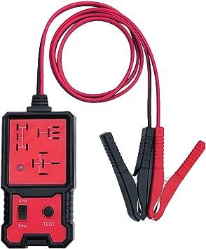Kkmoon Auto Relais Tester 12v Autobatterie Tester Elektronische Relais Tester Mit Clips Auto Relais Diagnosegerat Werkzeug Amazon De Auto