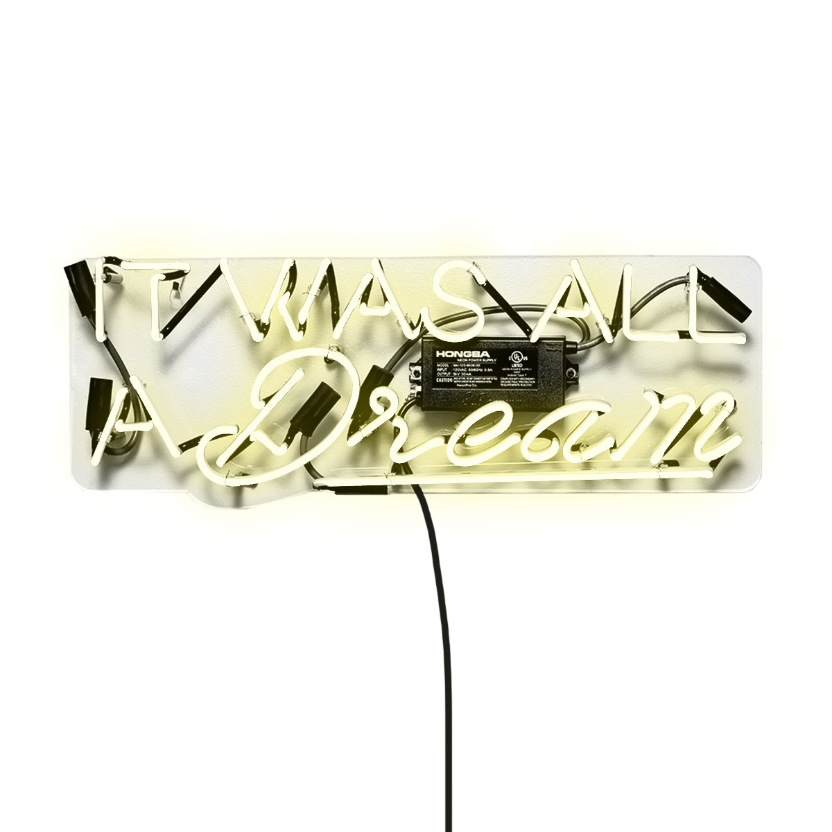 It Was All a Dream' Contemporary Fashion Neon Sign Art for Home Decor and Office. The Neons Sign Light Wall Decor Collection by The Oliver Gal Artist Co. Handmade Glass Tubing and Ready to Hang