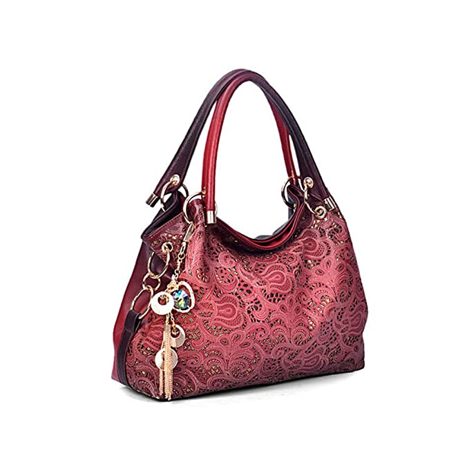 Flada Ladies Leather Hobo Handbags Clearance Tote Bags Purses for Women Red   Amazon.ca  Luggage   Bags b2a021723371c