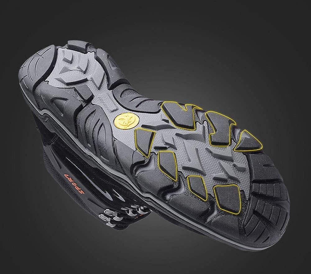 WOJIAO Zapatillas Altas para Hombre Invierno Calzado de Escalada de Invierno Hombre para Caminar Zapatos con Cordones Botines 614196