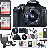 Canon EOS Rebel T6 DSLR Camera 18-55mm Lens Two Extra Batteries, Photo Software More Accessories
