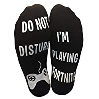 Do Not Disturb, I'm Playing' Funny Ankle Socks - Great Gift For Game Lovers