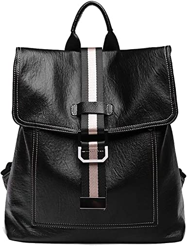 Amazon.com: Tisdaini backpack purse for women Fashion Casual Soft Leather  travel teen Bags: Clothing