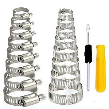 HO2NLE 36Pcs Abrazaderas Metalicas para Tubos Abrazadera de ...