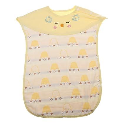 Sharplace - Saco de dormir para bebé (100% algodón, cómodo, sin mangas