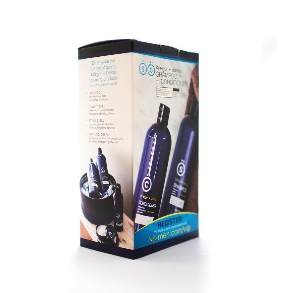K + S Hombre de champú Cabello y acondicionador Set en calidad profesional - con teebaumöl y aceite para prevenir la caída del cabello, caseta y seco cuero ...