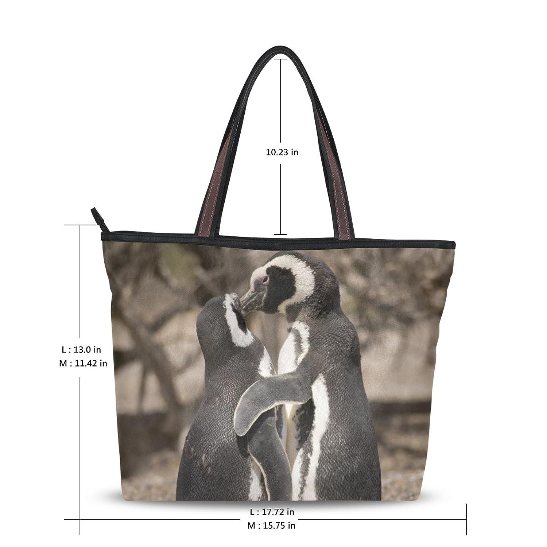 MRMIAN Women's Ladies Tote Shoulder Bag Penguin Stylish Zippered Present Soft