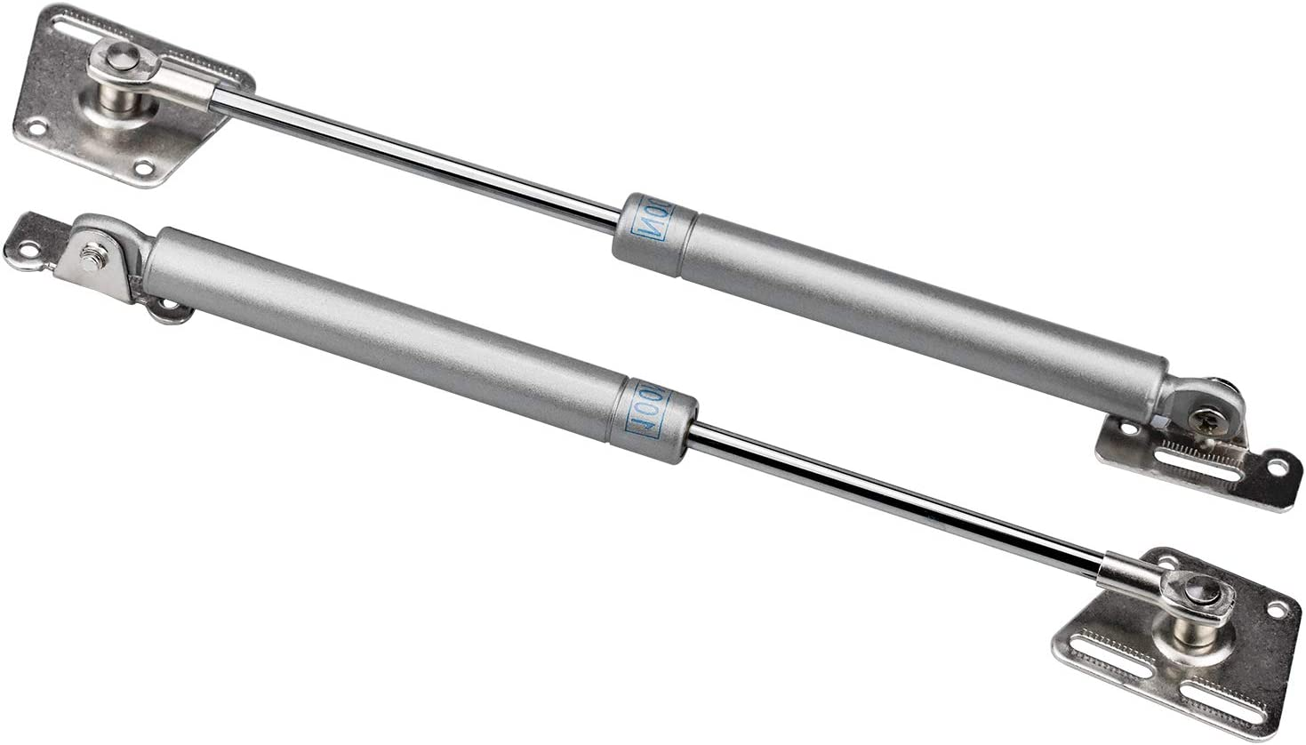 100N 2 Pack Gas Strut Telescopic Gas Spring Lift lid Stay Hinge for Door Stays Kitchen Cabinet Cupboard Toy Box Spring Hinge
