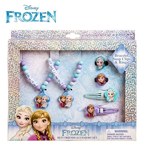 Disney Frozen Girls Best Friends Jewlery Hair Accessories Set Bracelet Ring Clip (Bestfriend Costumes)