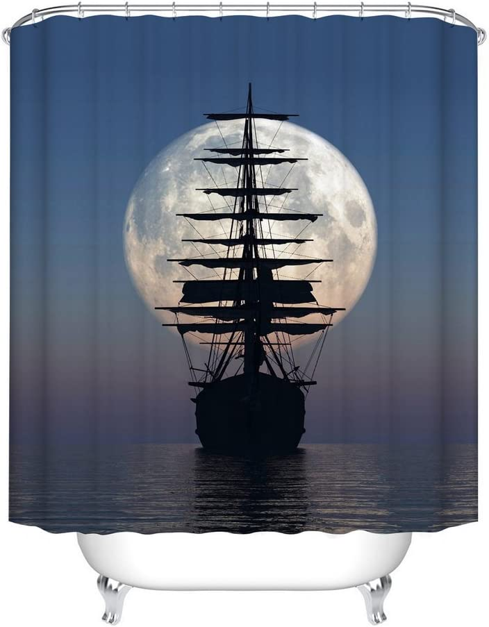 PIRATE SHIP SHOWER CURTAINS