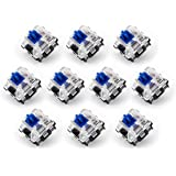 Gateron Optical Blue Switch DIY Replaceable Switches for Mechanical Gaming Keyboard (10 PCS) (Blue)