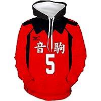 Enhopty Herr dam huvjacka tröja med huva sweatjacka Hoodie Nekoma High School Kozume Kenma No.5 S (bröstomkrets 102 cm)