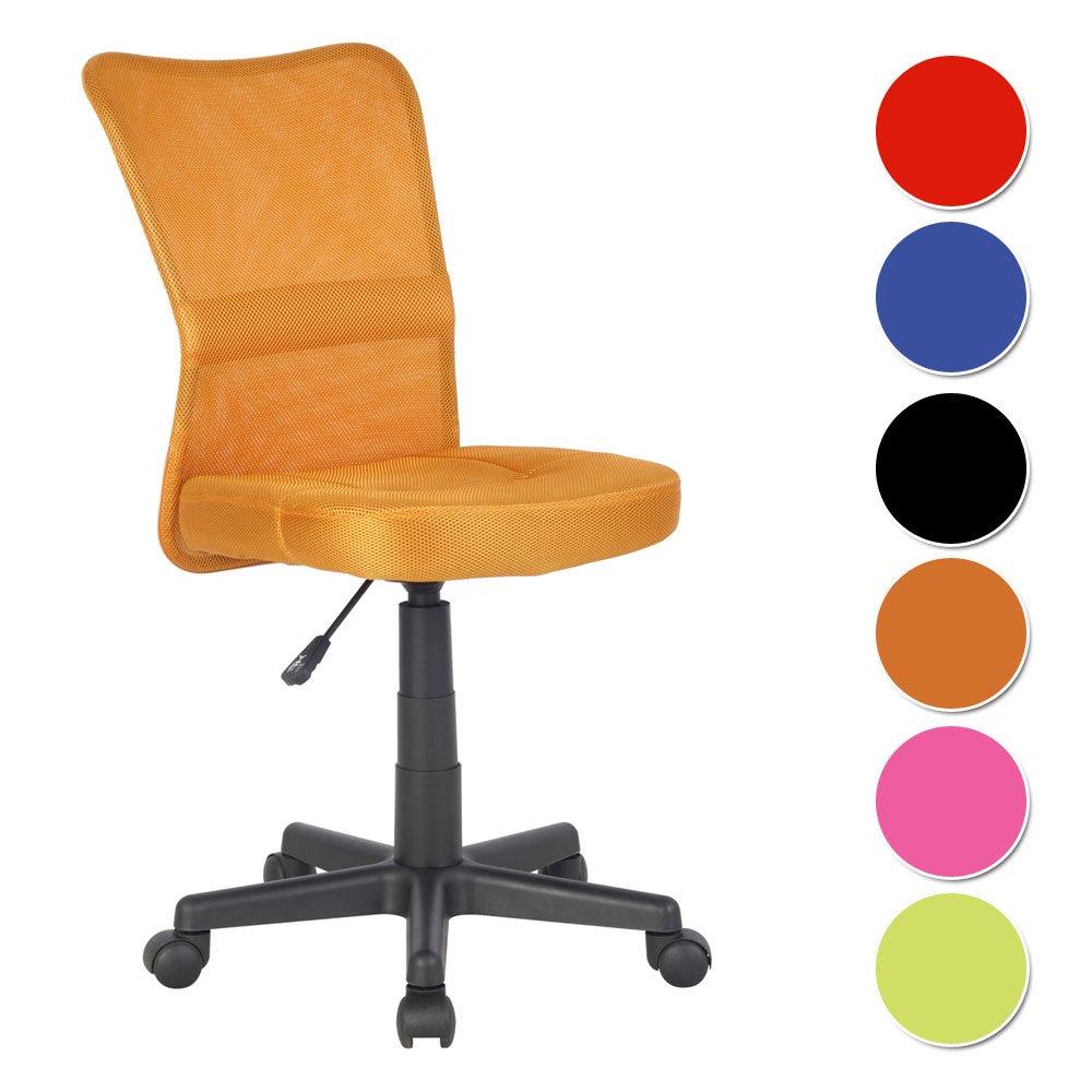 SixBros. Sedia ufficio sedia girevole arancio - H-298F/2067 ...