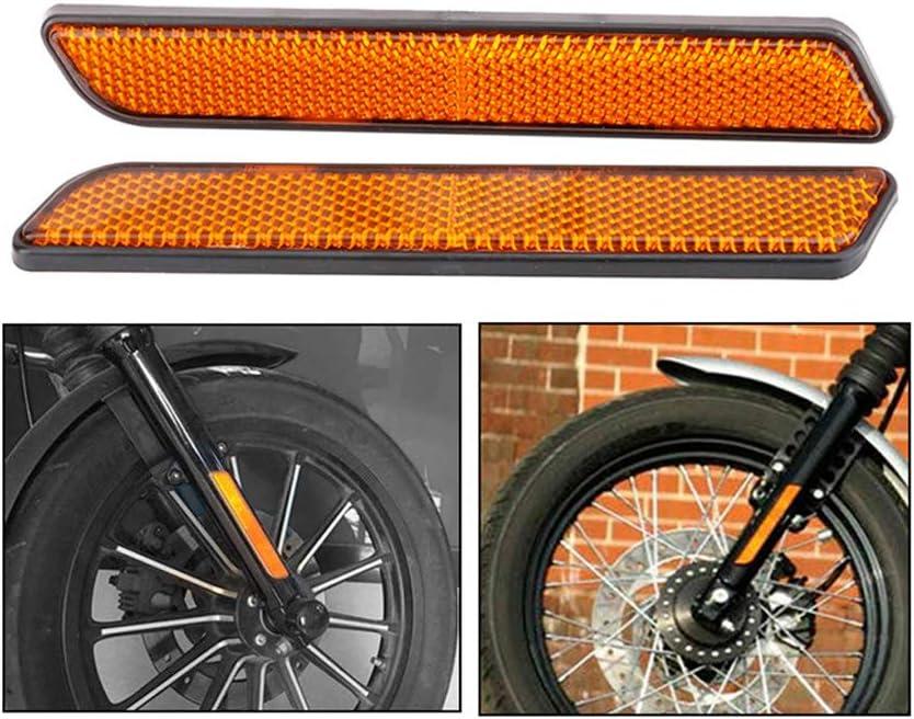 B Baosity 2X 161x22x6mm Reflecteur pour Harley 883 1200 Visible pour Loquet De Sacoche Glide 48 Veilleuse Imperm/éable Anti-Pluie Antirouille