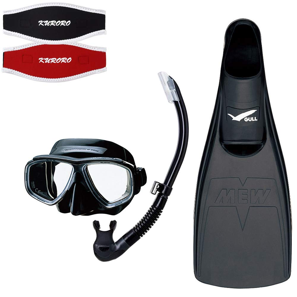 TUSA マスク スプレンダイブ2 ブラックシリコーン BKBK×スノーケル プラチナ2ハイパードライ BKBK×GULL ミューフィン BK×KURORO マスクストラップカバー B07KRL8SGW ブラック×レッド 01.Sサイズ(フィン) 01.Sサイズ(フィン)|ブラック×レッド