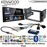Volunteer Audio Kenwood DMX7704S Double Din Radio Install Kit with Apple CarPlay Android Auto Bluetooth Fits 2007-2013 Silverado, Avalanche (Factory amplified sound systems)