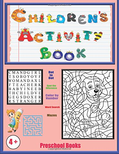 Preschool Books: An activity book with 120 puzzles, exercises and challenges for kids aged 4 to 6 (Volume 1) pdf epub