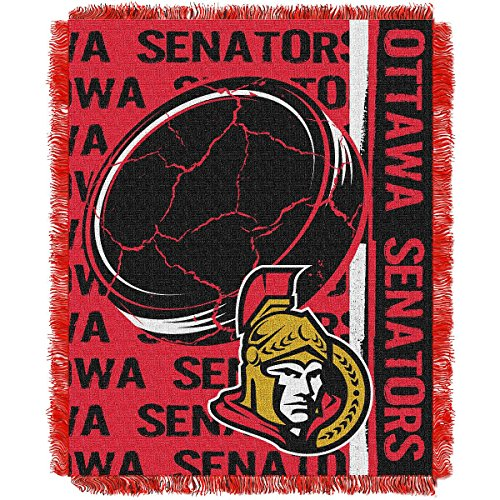 The Northwest Company Ottawa Senators Double Play Woven Jacquard Throw Blanket