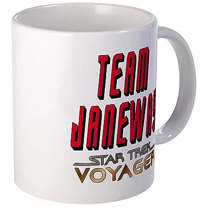 5b4008ffe Amazon.com: CafePress - Team Janeway Star Trek Voyager Mug - Unique ...