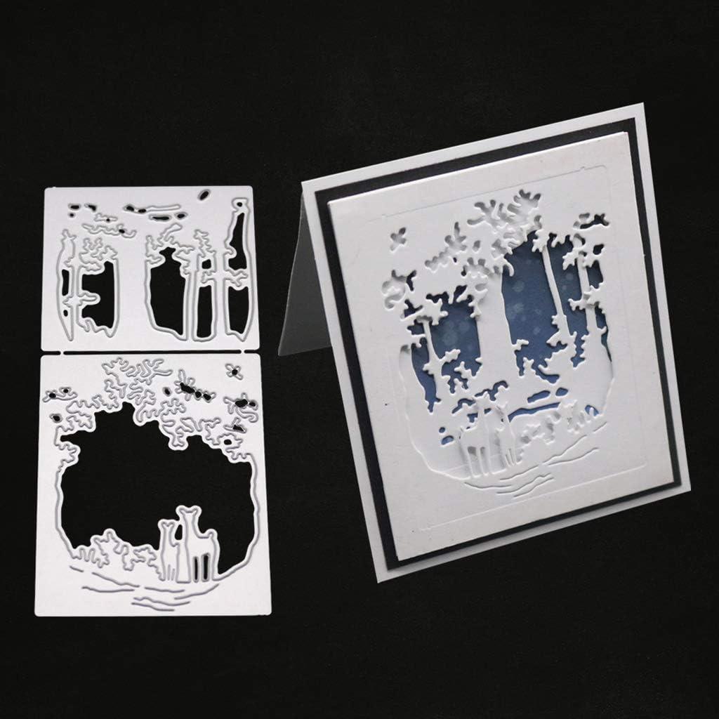 MosBug Christmas Deer Metal Dies Cuts for Card Making, Stencil DIY Scrapbooking Album Stamp Paper Card Embossing Craft Decor