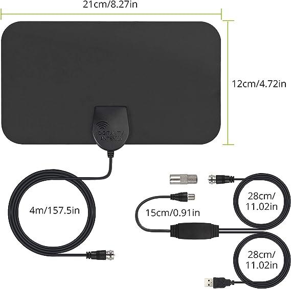 eSynic Antena HDTV de Interiores para TDT, Señal Digital ...