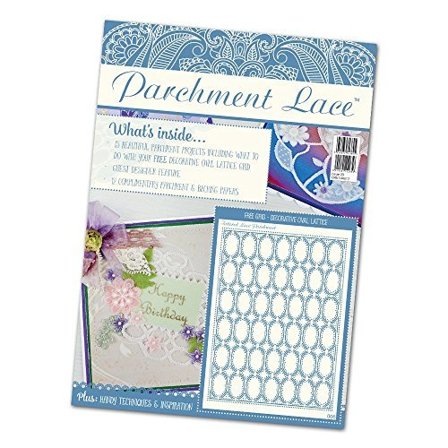 Tattered Lace Parchment Lace Magazine Issue #3 Incl FREE Decorative Oval Lattice