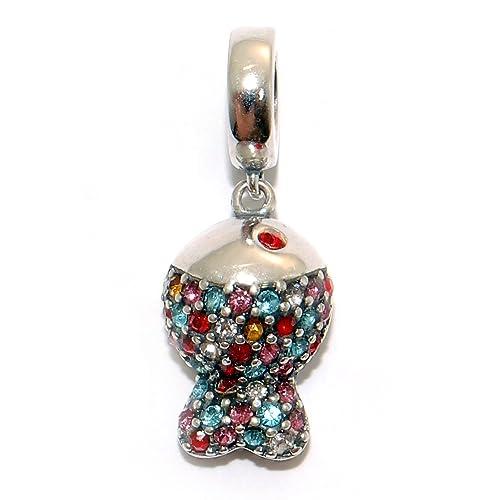 28416419ce21 Charm 100% Plata de Ley 925 para pulseras para charms tipo Pandora,  Chamilia, Biagi, Swarovski. Abalorios beads dijes charm colgante plata  (PezCz)