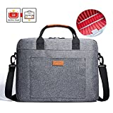 Laptop Bag, KALIDI 17.3 Inch Notebook Briefcase Messenger Bag for Dell Alienware/MacBook / Lenovo/HP, Travelling, Business, College and Office Gray BH003L