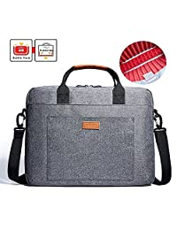 Laptop Shoulder Bag, KALIDI 17.3 Inch Notebook Briefcase Messenger Bag for Dell Alienware / Macbook / Lenovo / HP , Travelling, Business, College and Office(Gray)