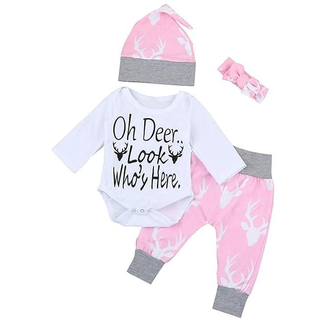 Koly 4 piezas / set recién nacido niños bebé niñas Niños trajes ropa ...
