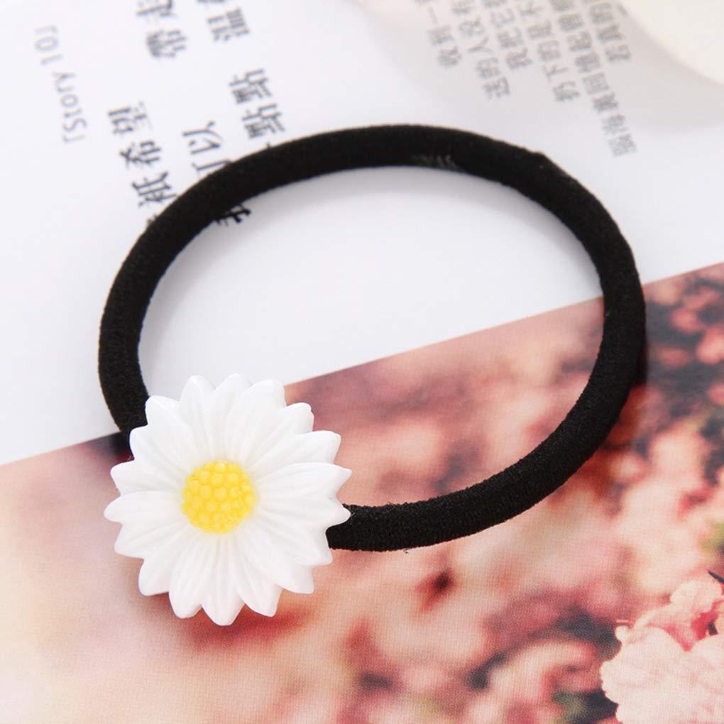 Lorsoul 10pcs Farbe Random Kinder M/ädchen-elastische Haarband-Blumen-justierbarer Haar-Riegel-Stab-Ring-Hauptzus/ätze