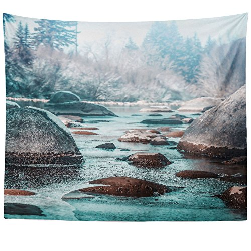 Westlake Art Wall Hanging Tapestry - Water Nature - Photography Home Decor Living Room - 68x80in (x8z-9b1-1e7) - Coldwater Therapy