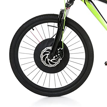 "Lixada 26""* 1,95"" Rueda Delantera Bicicleta Eléctrica Disco Freno Hub Motor"