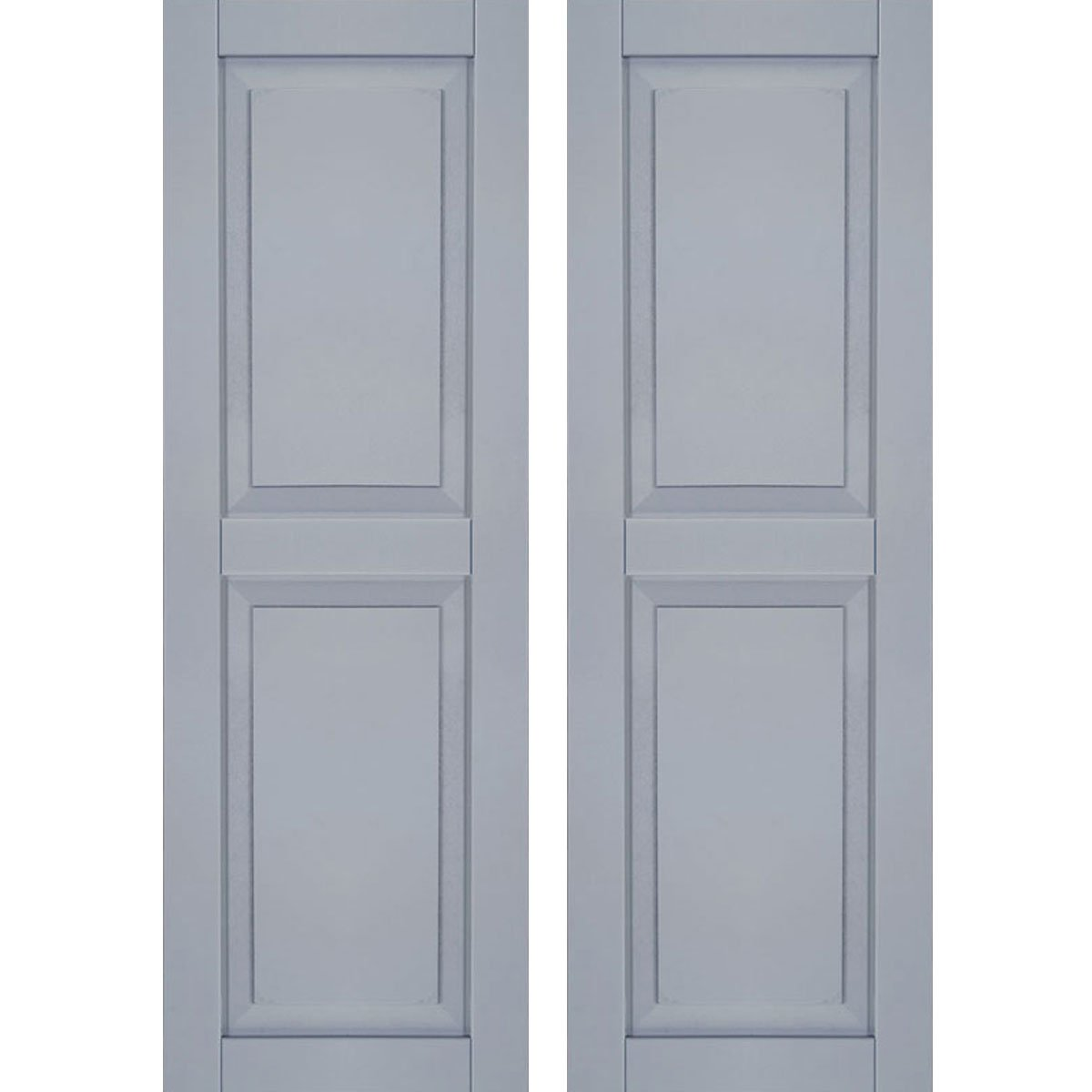 Ekena Millwork CWR12X025UNC Exterior Composite Wood Raised Panel Shutters with Installation Brackets (Per Pair), Unfinished, 12'' W x 25'' H