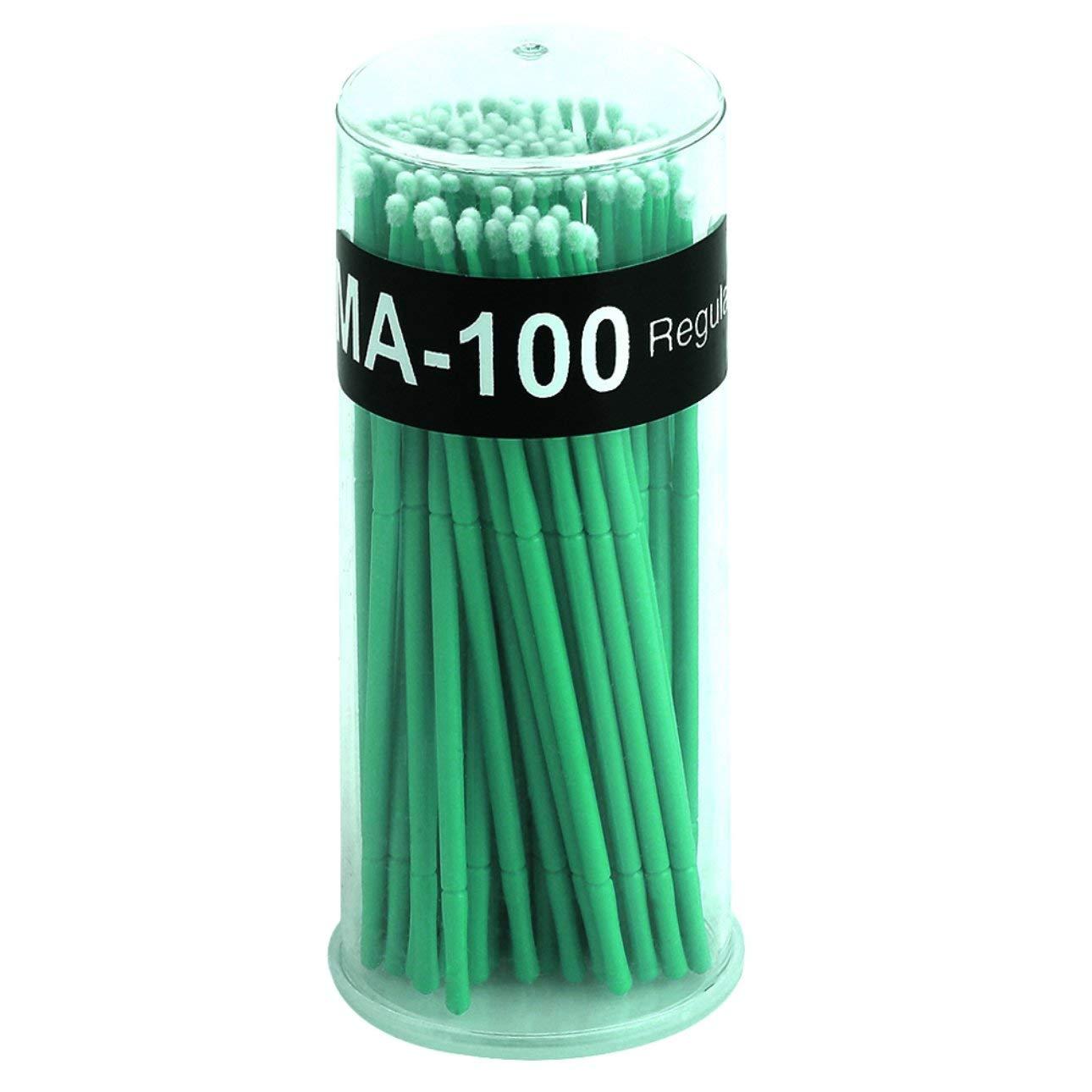 Liobaba 100pcs/set Professional Eyelashes Makeup Use Plastic Disposable Eyelash Cleaning Stick Cleaning Brush Stick