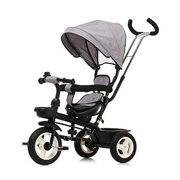 Bicicleta para niños, carro de bebé para bebés Triciclo bicicleta para carro (Color :