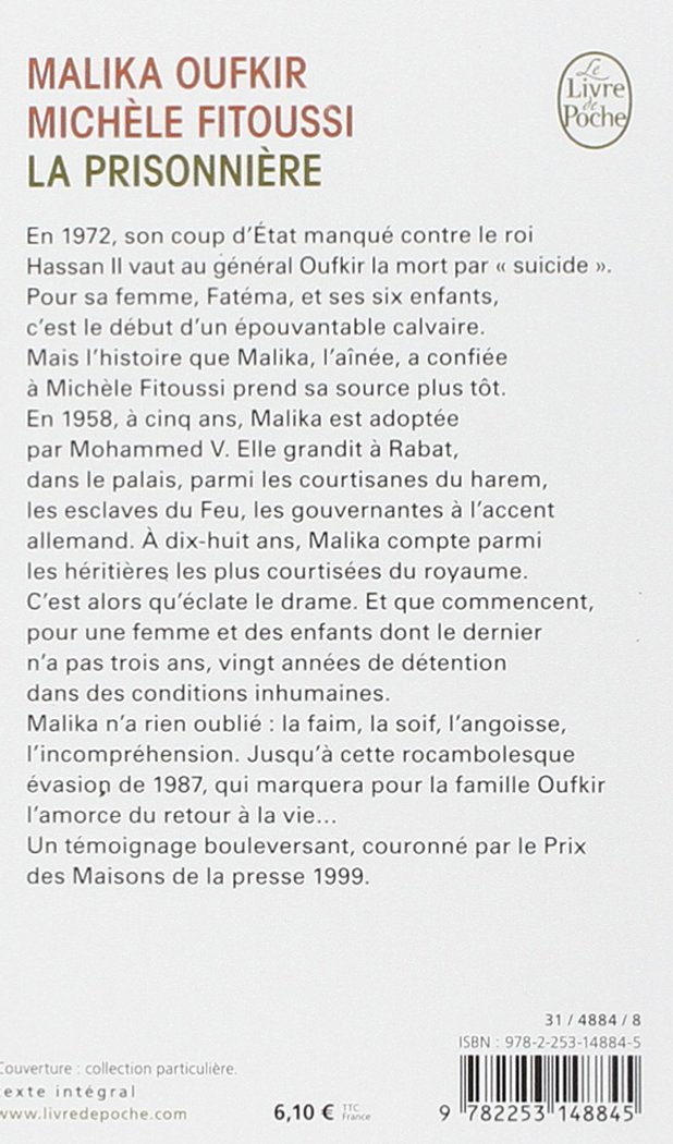 PRISONNIERE MALIKA GRATUIT OUFKIR PDF TÉLÉCHARGER DE LA