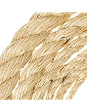 "GOLBERG Twisted Sisal Rope – 3/16"", 1/4"", 5/16"", 3/8"", 1/2"", 3/4"", 1"" Diameters – 100% Natural Sisal Fibers"