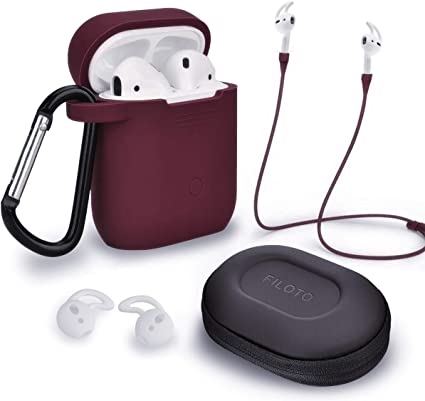 Amazon Com Filoto Airpods Case Cover For Apple Airpods 2 1