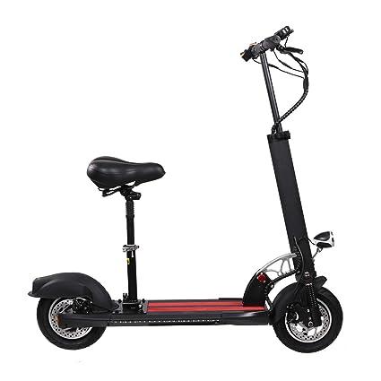 Amazon.com: Z-HBMT Patinete eléctrico, plegable, velocidad ...