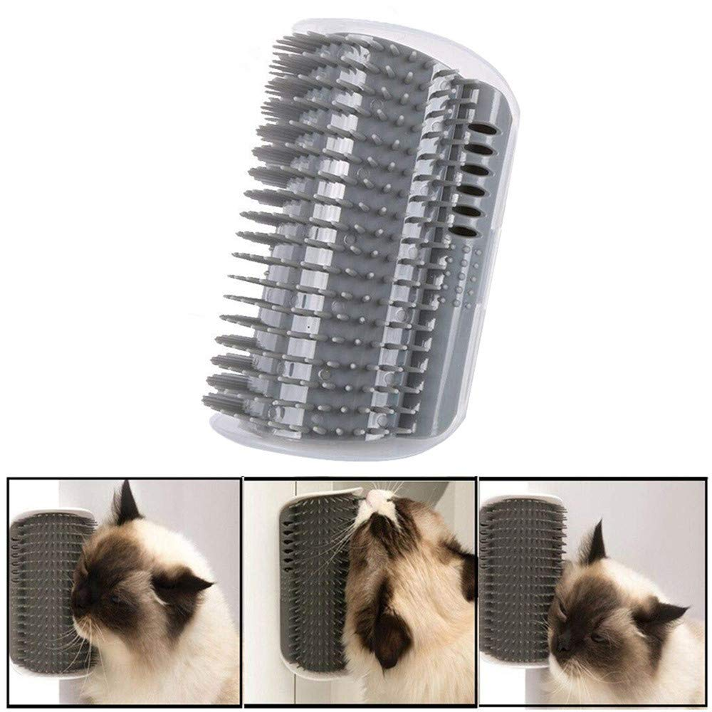 ❀ZTY66®❀ Cat Self Groomer with Cathip Cat Self Grooming Corner Wall Brush Dog Cat Corner Groomer,Wall Corner Massage Comb Grooming Brush